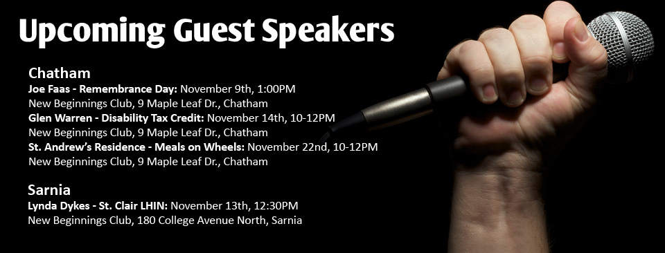 Upcoming Guest Speakers